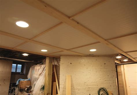 Diy Bead Board Ceiling In The Basement D I Y Basement Ceiling Lighting
