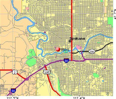 map  spokane zip codes  travel information
