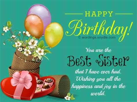 Happy Birthday Younger Wishes Awesome Greetings Birthday Wishes For Best Sister
