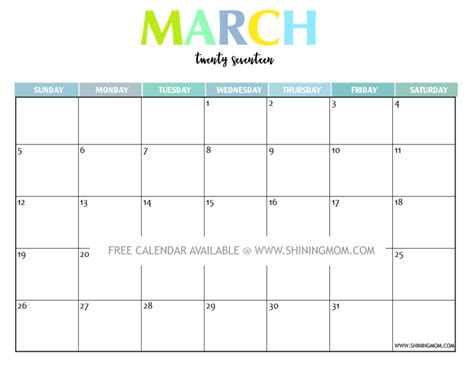 printable calendar april 2016 march 2017 your free 2017 printable calendar fun and colorful