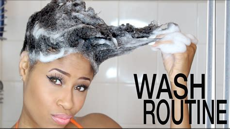 washing hair in 5 steps to the simplest wash day routine on natural hair
