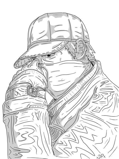 watch dogs coloring page aiden pierce watch dogs by disarmedartist on deviantart