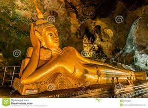 Reclining Buddha Temple by Reclining Buddha Suwankuha Temple Phuket Thailand Stock