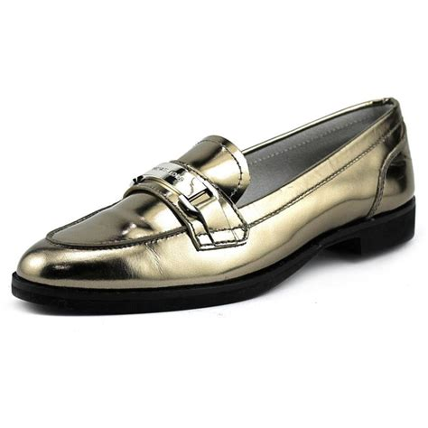 silver loafers womens michael michael kors ansley loafer leather silver