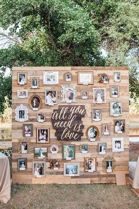 top 12 creative ways to display photos at your wedding