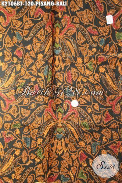 Kain Batik Printing Bt 018 jual kain batik klasik pisang bali bahan pakaian formal pria dan wanita batik kombinasi