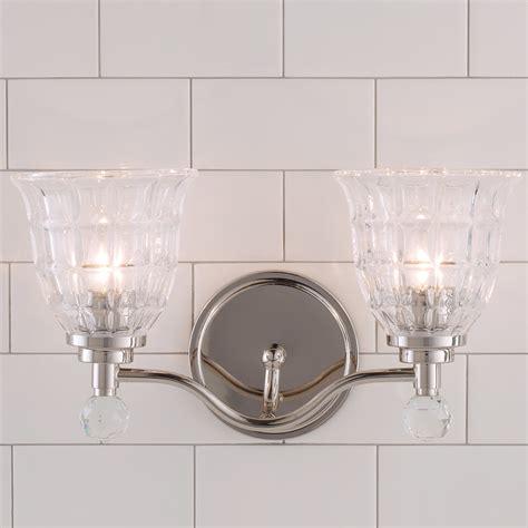 Vanity Light Shades Faceted Glass Vanity Light 2 Light Shades Of Light