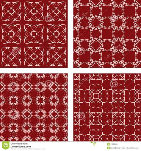 pattern background maroon maroon seamless pattern background set stock vector