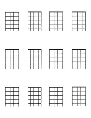 guitar fretboard diagrams four frets