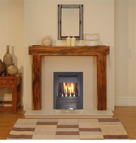 Gas Fireplaces And Surrounds by Gas Solid Wood Acacia Mango Fireplace Black Gas