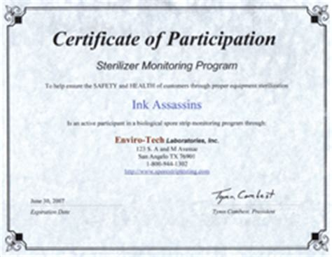 tattoo infection control certificate about us ink assassins tattoos piercings erie pa
