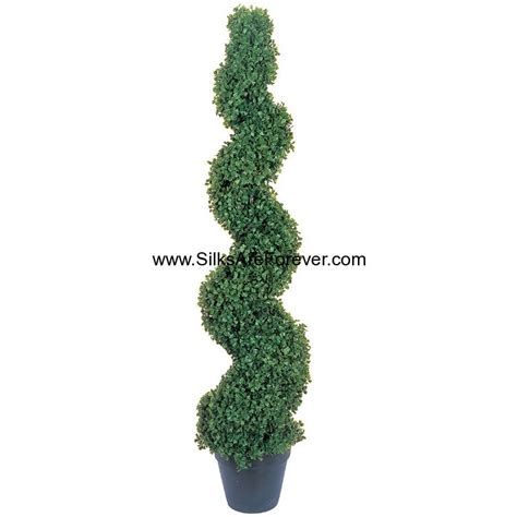artificial spiral topiary 4 boxwood spiral artificial topiary tree w pot indoor outdoor