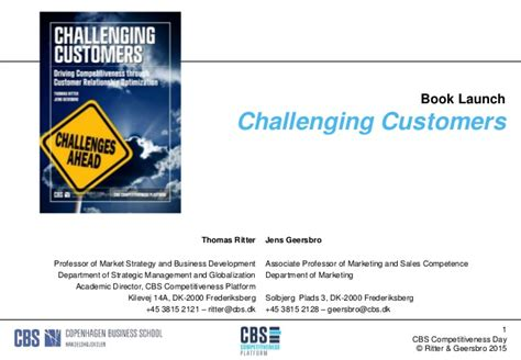 challenging customers book launch challenging customers driving