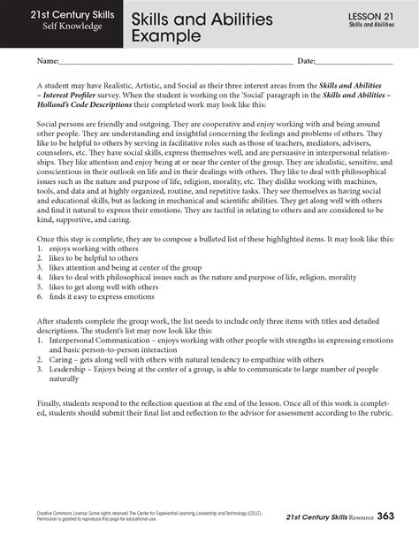 Resume Sle Of Skills And Abilities 28 Skills And Abilities On Resume Exles Sle Resume Skills And Abilities Sle Templates Skills
