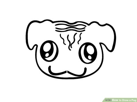 how to draw pugs step by step how to draw a pug 7 steps with pictures wikihow