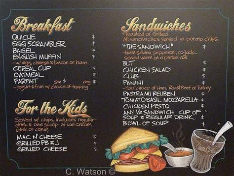 local coffee shop chalkboard menu almost too neat cafe menu idea chalkitupsigns ice cream shoppe pinterest