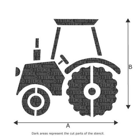 tractor cut out templates tractor stencil the stencil studio