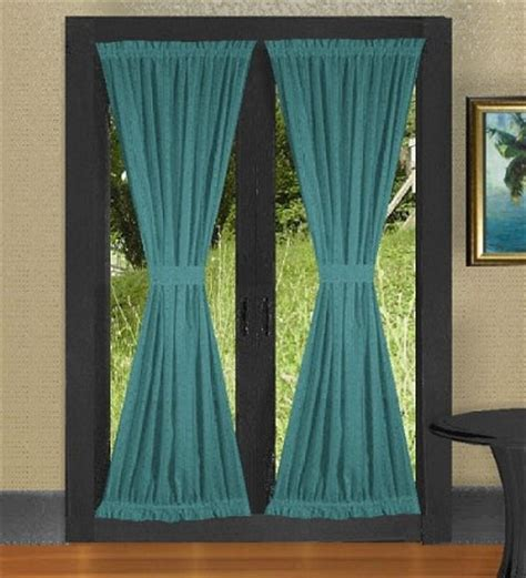 dark turquoise curtains dark teal french door curtains