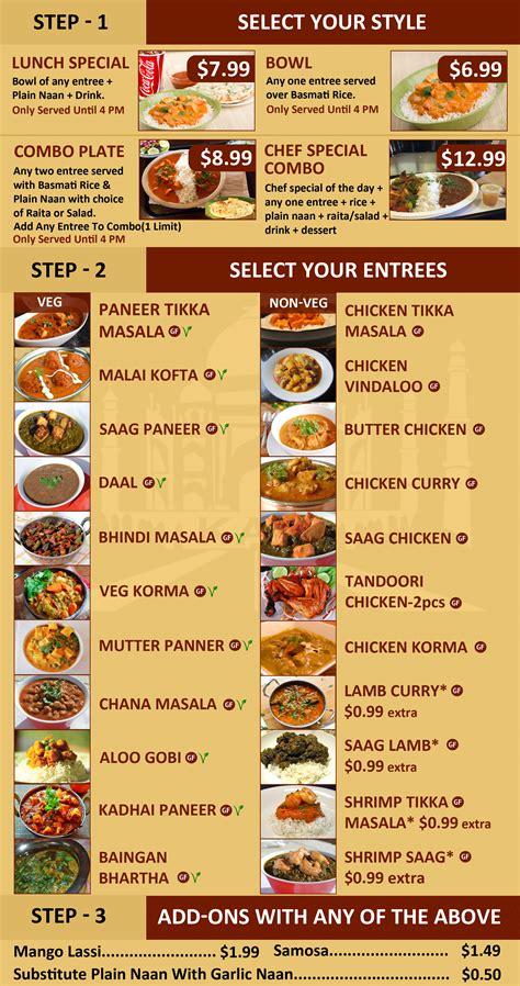 food menu indian food menu fresh fast indian food kasi
