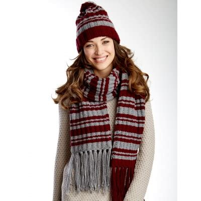 knitting pattern scarf and hat set varsity stripes set hat and scarf free knit pattern