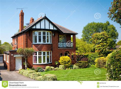 royalty house typical english house with a garden royalty free stock images image 29750419
