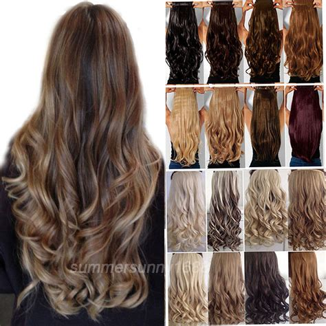 long real hair extensions 100 real soft long straight curly wavy clip in hair