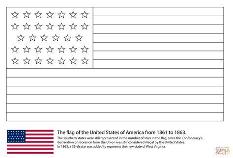 coloriage drapeau des etats unis avec 34 233 toiles 1861