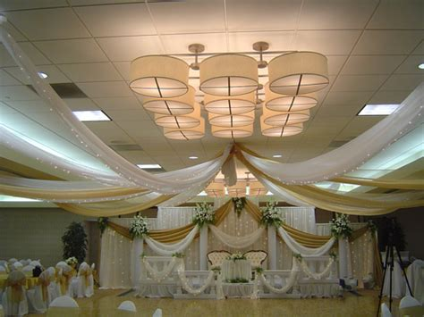ceiling decorations your best wedding how to decorate with fabric for a