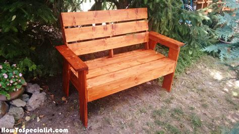 how to build a garden bench how to build a 2x4 garden bench howtospecialist how to
