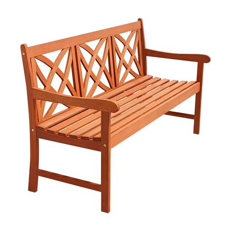 wood outdoor bench vifah 5 ft wood garden bench