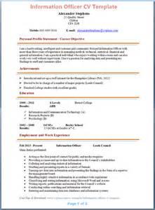 Information Officer Cv Example