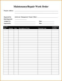 work order template 8 maintenance work order templatereference letters words