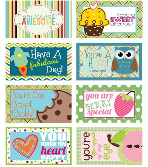 cute printable postcards free lunch box printables 8 great designers