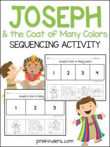 coat of many colors in the bible joseph the coat sequencing activity prekinders