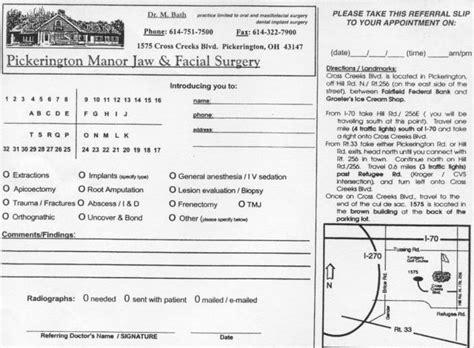 Valued Patient Letter doctor referral form pickerington oh