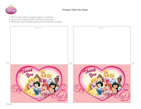 printable birthday cards disney disney princess thank you cards disney family