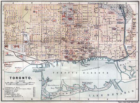 canadian map toronto large road map of toronto city 1894 toronto large