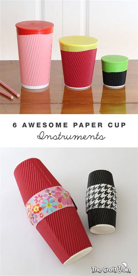 musical instruments crafts for 6 awesome paper cup instruments instruments cups and