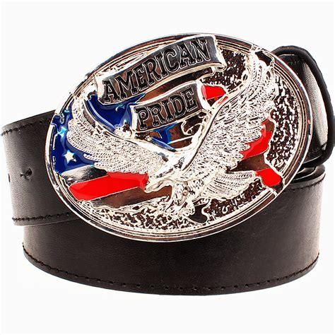 pattern belt of the black eagle fashion men s leather belt bald eagle pattern american