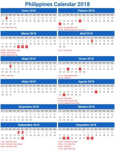 printable  calendar  philippines important days  calendar philippines