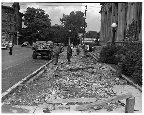 l post ann arbor ann arbor post office gets new sidewalk 1940 ann arbor