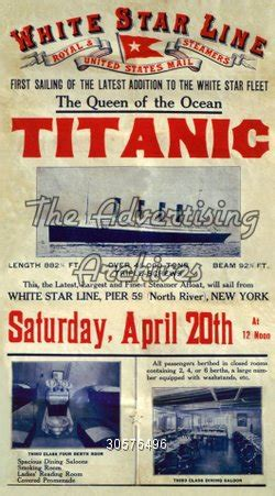 titanic boat to hire liverpool the advertising archives poster titanic 1910s