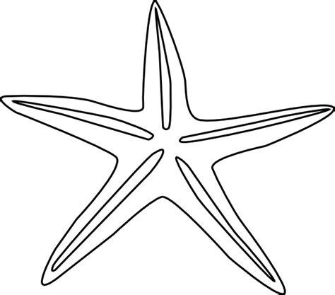 starfish outline clip art  clkercom vector clip art