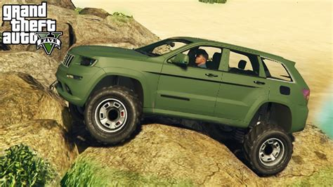 jeep grand mudding gta 5 epic jeep grand mod 4x4 roading