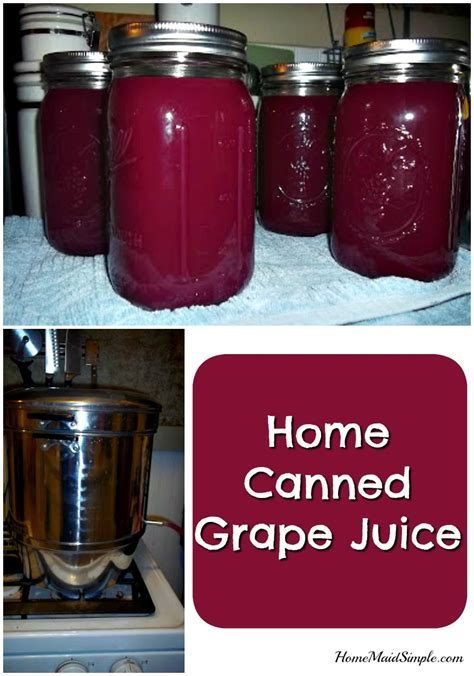 home canned grape juice home simple