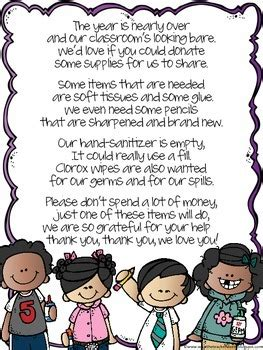 thank you letter from parents to kindergarten poem end of year donation letter to parents by