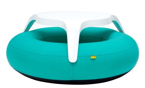inflatable bench donuts set table benches turquoise by blofield