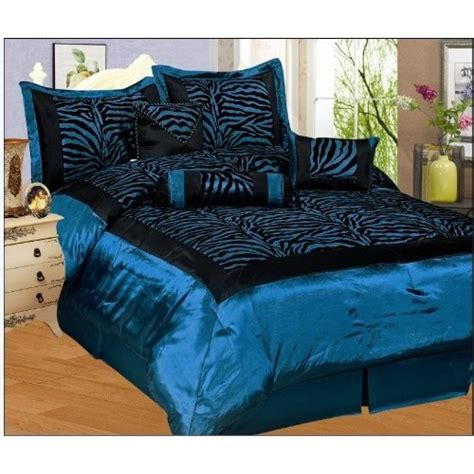 silk comforter sets best price cheapest lowest 7pc blue