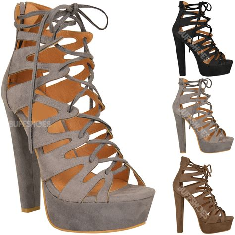 lace up sandal heels new womens high heel platform gladiator sandals