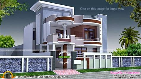 50 yard home design 2875 square feet flat roof home keralahousedesigns